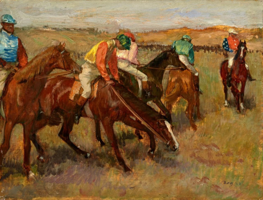 Edgar Degas. Before a race
