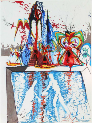 """Salvador Dali. Sketch for the production of """"Romeo and Juliet"""""""