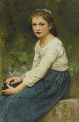 William-Adolphe Bouguereau. Girl with grapes