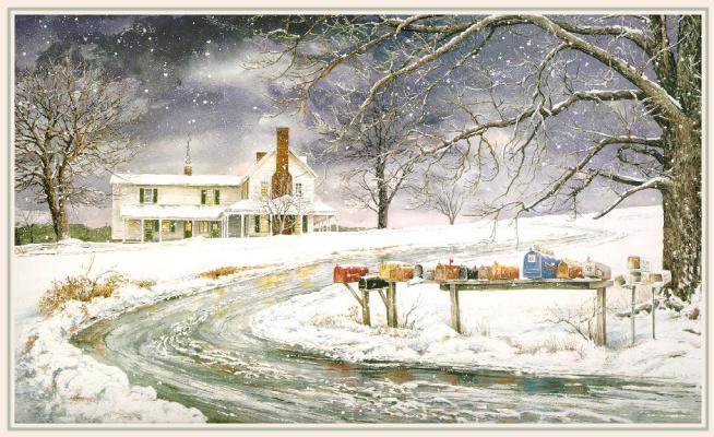 Уильям Мангам. Зимний пейзаж