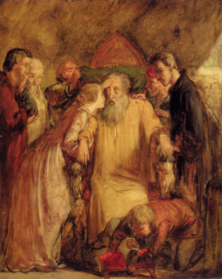 John Everett Millais. Lear and Cordelia