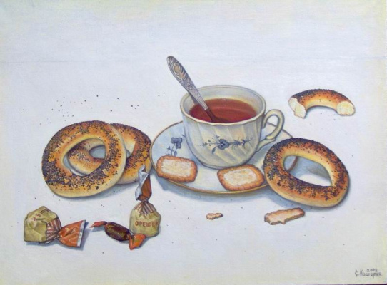 Stepan Vladimirovich Kashirin. Tea still life.