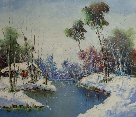 Andrey Sharabarin. A snowy day at the beginning of winter. N3
