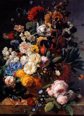 Мари-Жозефина Хеллеманс. Цветы в вазе