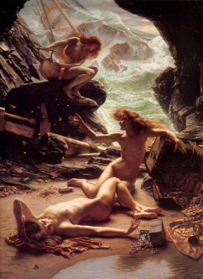 Edward John Poynter. Cave Of The Storm Nymphs