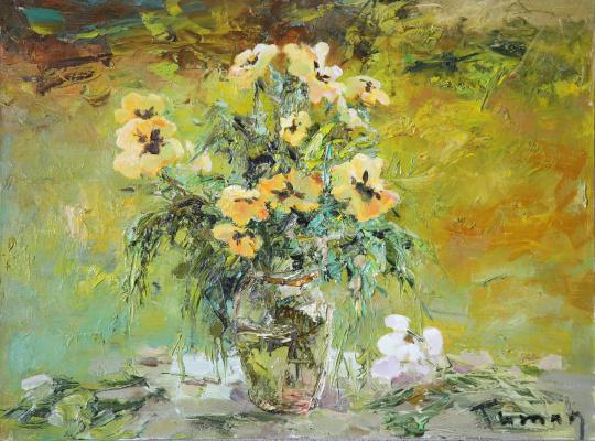 Tuman Art Gallery Tumana Zhumabayeva. Pansies