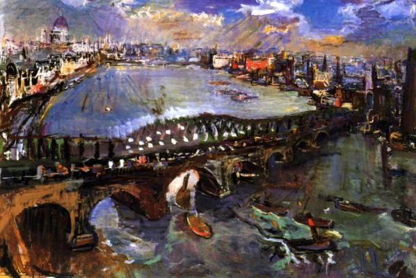 Оскар Кокошка. Лондон, мост Ватерлоо