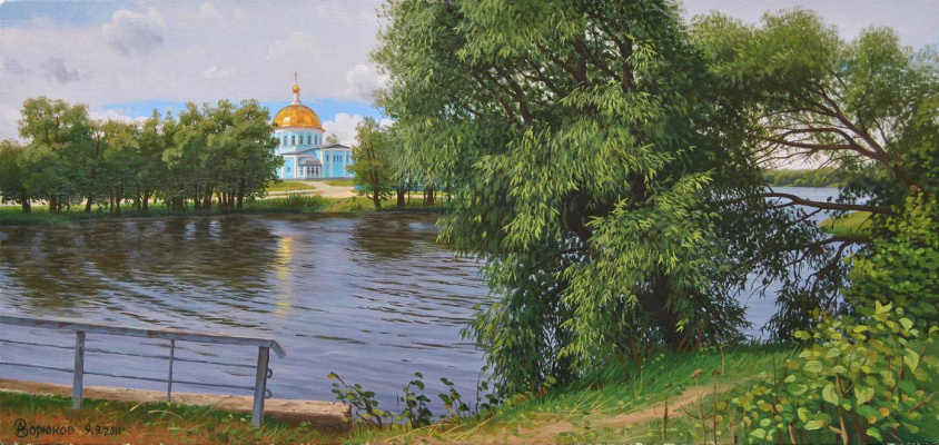 Alexander Vasilyevich Zoryukov. Rakita by the water. Lower lake