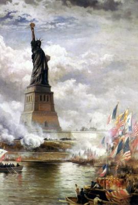 Эдвард Моран. Обнародование Статуи Свободы