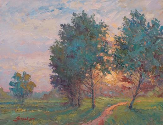 Pavel Evgenievich Petrov. Evening paint