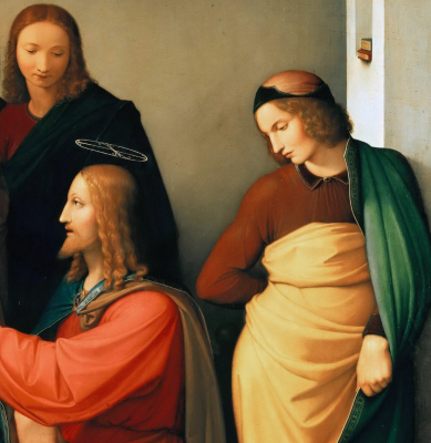 Johann Friedrich Overbeck. Christ in the house of Martha and Mary. Berggruen Museum, Berlin detail