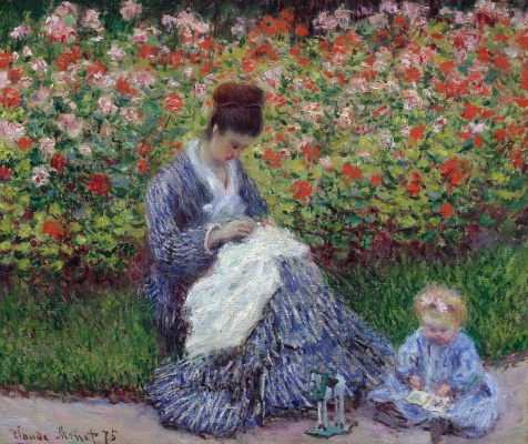Claude Monet. Camille Monet with a child