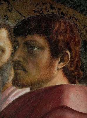 Tommaso Masaccio. Miracle with a statir (Payment of taxes). Fragment: Saint Thomas