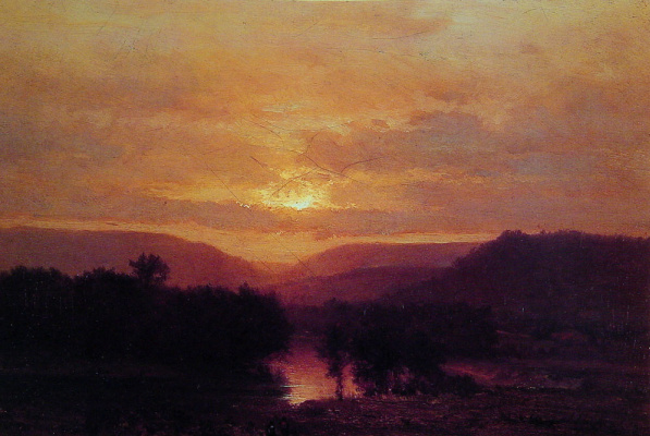 George Innes. Sunset