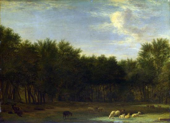 Adrian van de Velde. The edge of the forest