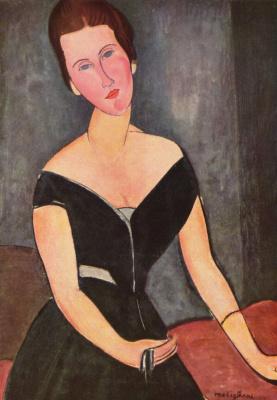 Amedeo Modigliani. Portrait of Madame Georges van Muden
