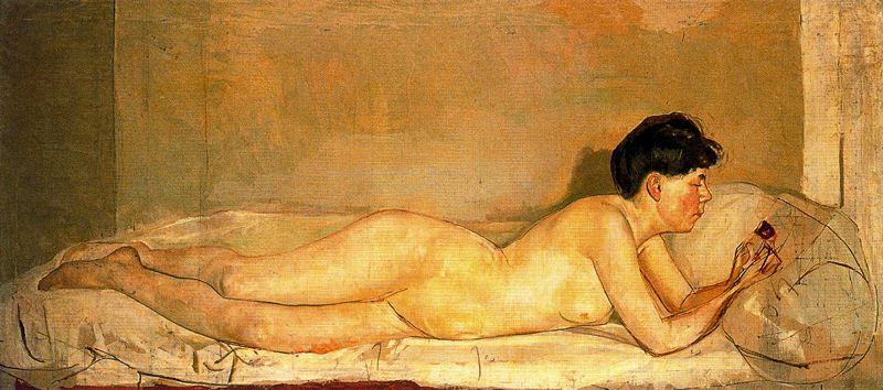 Ferdinand Hodler. Reclining Nude
