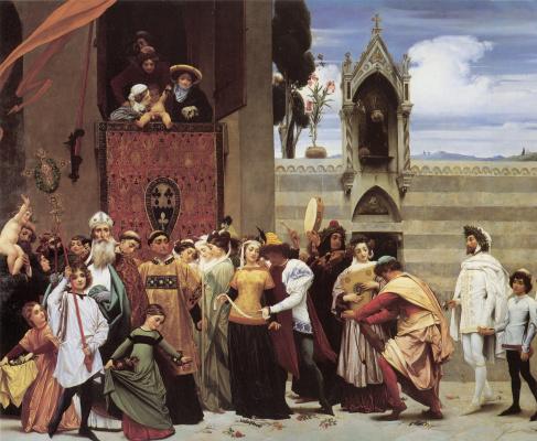Frederic Leighton. Madonna Cimabue (fragment)