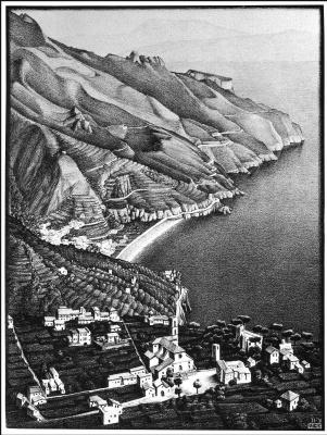 Maurits Cornelis Escher. Ravello and the Amalfi Coast