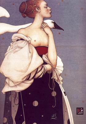 Michael Parkes. Pale Swan