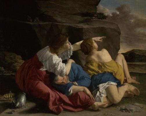 Orazio Gentileski. Lot and his daughters