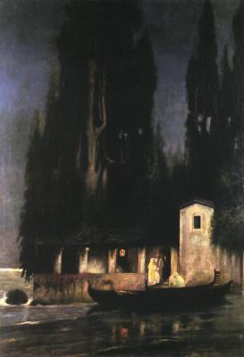 Генрих Ипполитович Семирадский. Ночное отплытие с острова