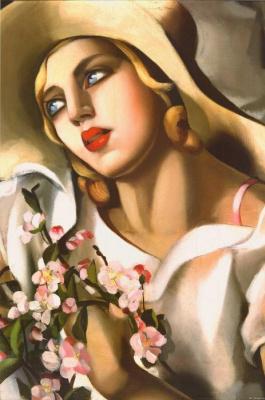 Tamara Lempicka. The girl in the hat