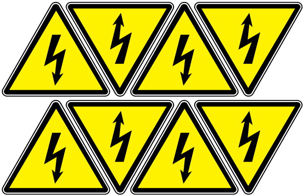 "Arthur Gabdrupes. ""Image"": ""Sign""; Caution ""Danger"" - ""Energized"", ""Electricity"" (d2)"