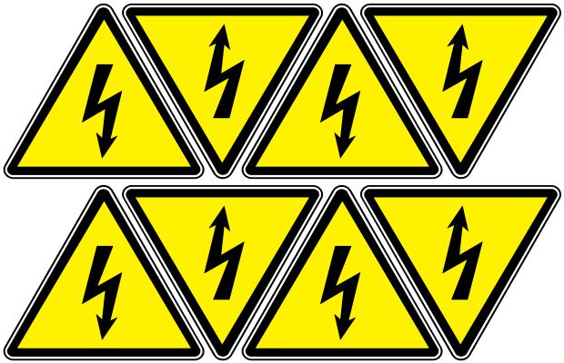 """Arthur Gabdrupes. """"Image"""": """"Sign""""; Caution """"Danger"""" - """"Energized"""", """"Electricity"""" (d2)"""