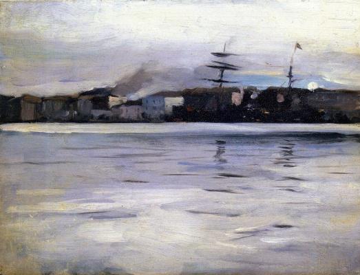 Джон Сингер Сарджент. Порт. Вид с моря