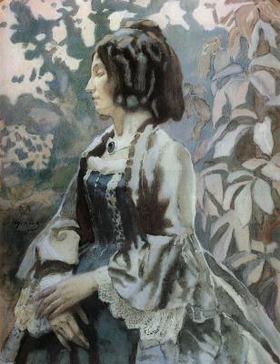 Виктор Эльпидифорович Борисов-Мусатов. Дама в голубом. 1902