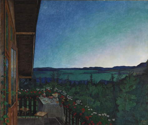 Harald Oskar Sohlberg. Summer Night