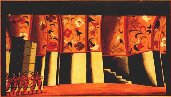 Vladimir Evgrafovich Tatlin. Sketch for the decoration of Ivan Susanin, Glinka