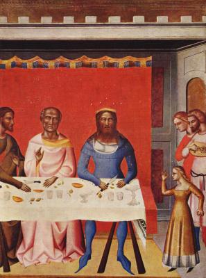 Иоанн Креститель и сцены из его жизни. Фрагмент