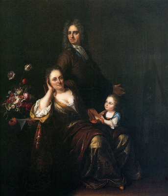 Юридан Пол. Семейный портрет художника с женой и сыном