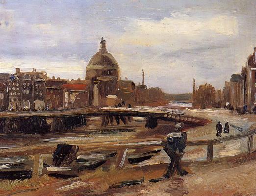 Винсент Ван Гог. Вид на Амстердам с центрального воказала