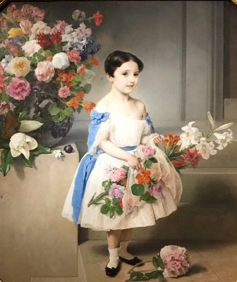 Francesco Ayets. Portrait of Antonietta Negroni Prati Morosini as a child