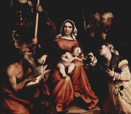Лоренцо Лотто. Мистическое обручение св. Екатерины Сиенской