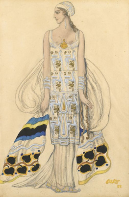 "Lev Samoilovich Bakst (Leon Bakst). Costume design for the tragedy of ""Phaedra"""