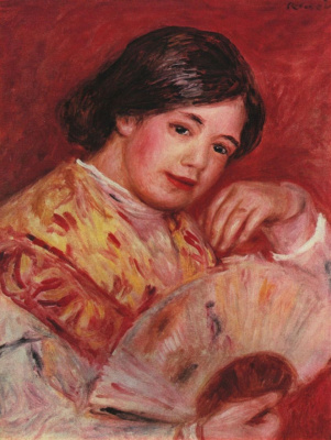 Pierre-Auguste Renoir. Girl with a fan