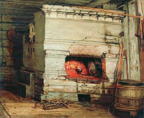 Василий Максимович Максимов. Крестьянская изба. 1869