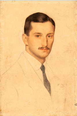 Saveliy Abramovich Sorin. Portrait of V.M. Solovyov. 1915