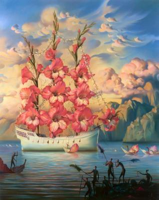 Vladimir Kush. Ship-flower