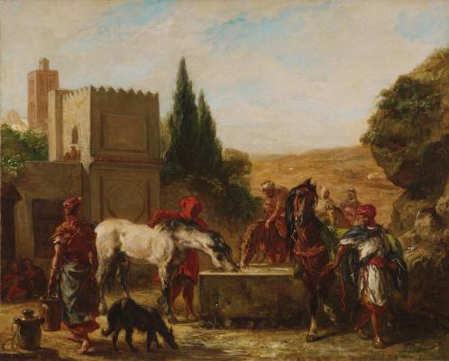 Эжен Делакруа. Лошади у фонтана