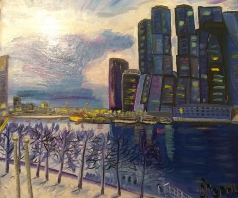 Olga Hermiseeva. Glass City Moscow City