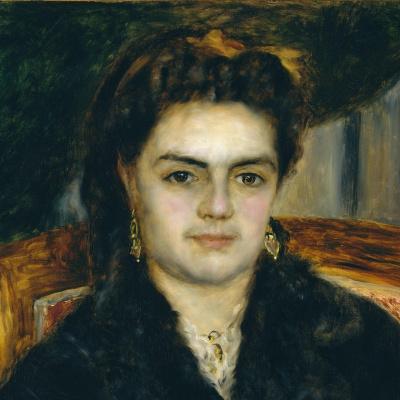 Pierre-Auguste Renoir. Portrait of Madame Bernier (fragment)