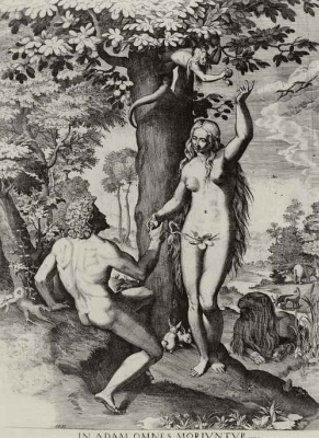Annibale Carracci. Adam and eve