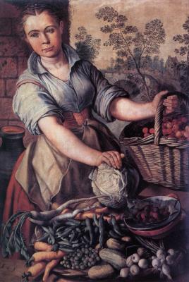 Иоахим Беуккелаеп. Продавщица овощей