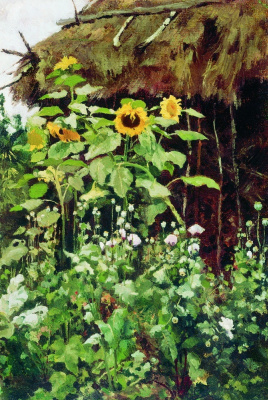 Elena Dmitrievna Polenova. Sunflowers