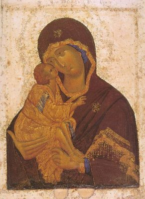 Icon Painting. Donskaya icon of the Mother of God